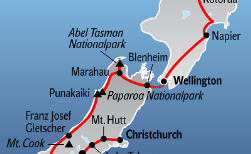 New Zealand Bike & Drive, 24 Tage
