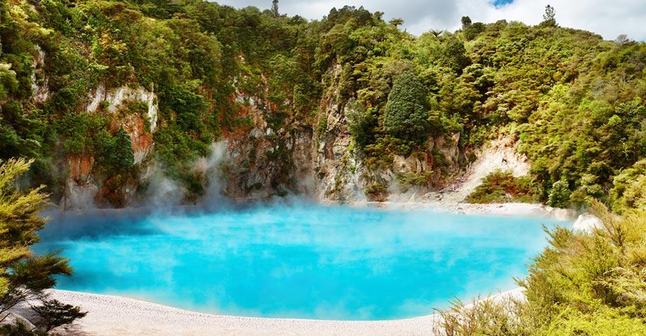 Neuseeland Abenteuer heisse Quellen